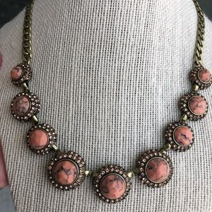 Chloe & Isabel Retro Pave Coral Collar Necklace